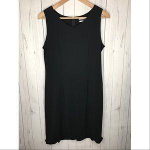 Amanda Smith Size 6 Black Sleeveless Dress